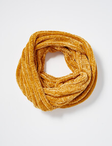 Boston & Bailey Chenille Snood, Mustard product photo