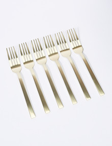 Amy Piper Manor Cake Fork, 6 Piece, Champagne product photo