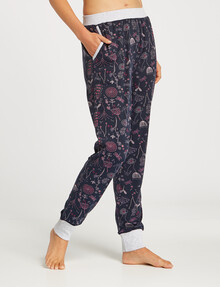 Zest Sleep Floral Print Soft Touch Jogger, Navy product photo