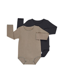 Bonds Long-Sleeve Bodysuit, 2-Pack product photo