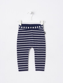 Bonds Stretchies Stripe Legging, Navy & White product photo