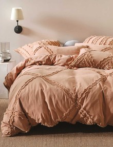 Linen House Heather Duvet Cover Set, Brandy product photo