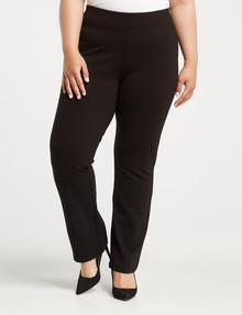 Studio Curve Ponte Straight Leg Pant, Black product photo