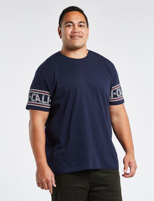 Tarnish King Size Cali-Sleeve Tee, Navy product photo