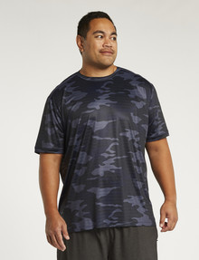 Gym Equipment King S Pace Camo Slim-Fit Tee, Navy product photo