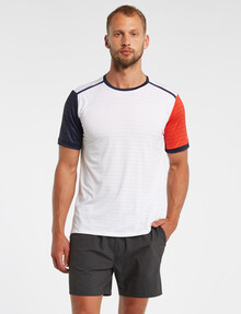 Gym Equipment Pace Contrast Slim-Fit Tee, White product photo