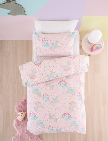 Linen House Kids Pegasus Party Duvet Cover Set, Pink product photo