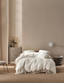 Linen House Dunaway Duvet Cover Set, Sugar product photo