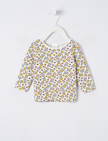 Teeny Weeny Ditsy Floral Tee, White product photo