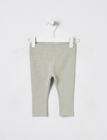 Teeny Weeny Rib Legging, Grey Marle product photo