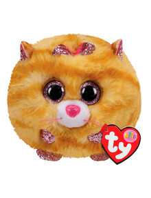 Ty Beanies Puffies Tabitha Cat, Yellow product photo