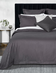 Kate Reed Sateen Stripe Duvet Cover Set, Grey product photo