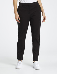 Whistle Shorter-Length Tapered Leg Pant, Black product photo