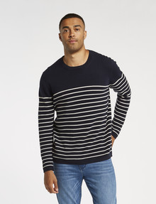 Gasoline Stripe Knit Pullover product photo