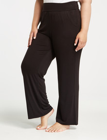 Bodycode Curve Wide Leg Full Length Pant, Black product photo