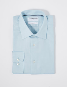 Laidlaw + Leeds Long-Sleeve Chevron Shirt, Mint product photo