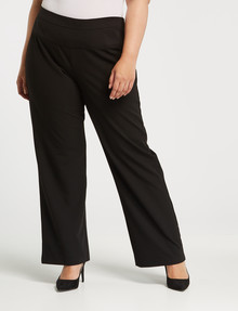 Studio Curve Wide Leg Work Pant, Black product photo