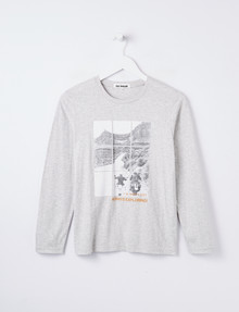 No Issue Long-Sleeve Always Exploring Tee, Grey Marle product photo