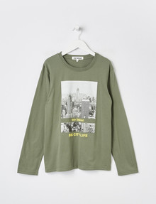 No Issue Big City Life Long-Sleeve Tee, Moss product photo
