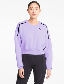 Puma Train Zip Crew-Neck Sweatshirt, Light Lavender product photo