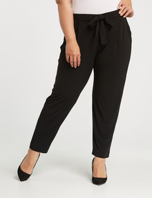 Studio Curve Tie Waist Knit Jogger Black product photo