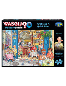 Wasgij Mystery 18, Grabbing A Quick Bite!, 1000 Piece Jigsaw product photo