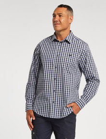 Line 7 Bert Long-Sleeve Shirt, Charcoal product photo
