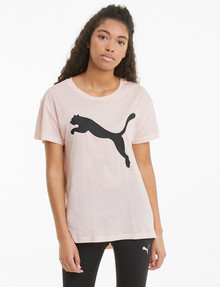 Puma Logo Tee, Cloud Pink product photo