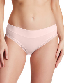 Perfects Cotton Hi Cut Brief with Lace, Blush product photo