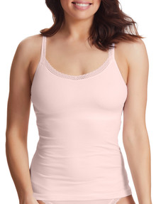 Perfects Cotton Shelf Cami with Lace, Blush product photo