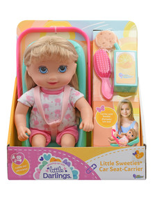"""Little Sweeties Car Seat-Carrier & 10"""" Doll Set product photo"""