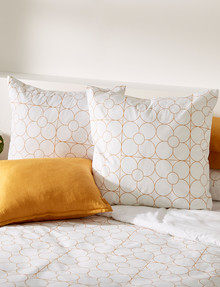 Haven Bed Linen Poppy European Pillowcase product photo