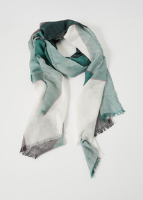 Boston & Bailey Check Scarf, Green, Black & Pink product photo