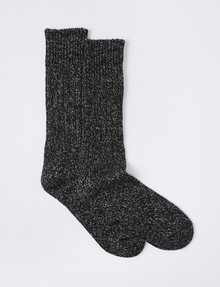 Outdoor Collection Alpine Fleck Sock, 2-Pack, Black product photo