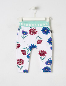 Bonds Stretchies Floral Legging, White product photo