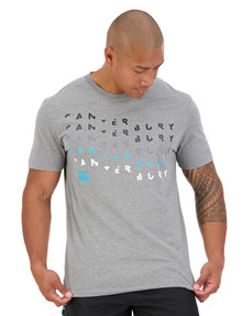 Canterbury Logo Short-Sleeve Tee, Charcoal Marle product photo