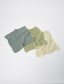 Cinemon Stitch Eco Knitted Dish Cloth, 3-Pack, 27x27cm, Sage product photo