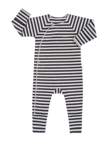 Bonds Stripe Print Cozysuit, Grey Marle & Black product photo