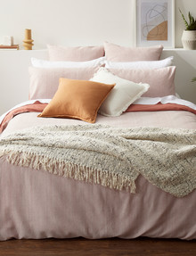Haven Bed Linen Beck Waffle Duvet Cover Set, Clay product photo
