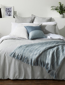 Haven Bed Linen Beck Waffle Duvet Cover Set, Grey product photo