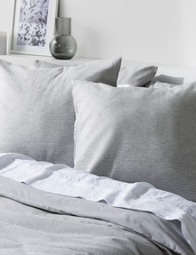 Haven Bed Linen Beck Waffle European Pillowcase, Grey product photo