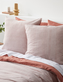 Haven Bed Linen Beck Waffle European Pillowcase, Clay product photo