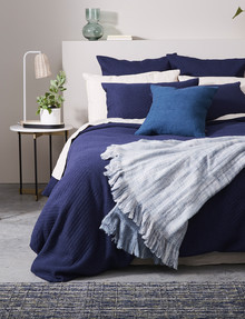 Haven Bed Linen Jersey Duvet Cover Set, Navy product photo