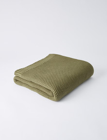 Haven Bed Linen Jasper Throw, Olive product photo