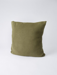 Haven Bed Linen Jasper Cushion, Olive product photo