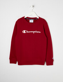 Champion Script Crew-Neck Sweatshirt, Dusty Clay product photo