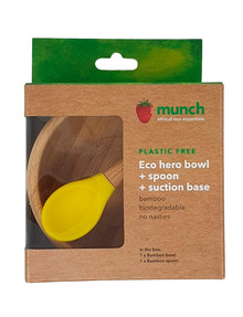 Munch Eco Baby Suction Bowl, Yellow product photo