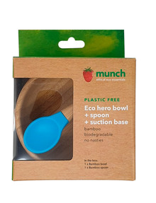 Munch Eco Baby Suction Bowl, Blue product photo