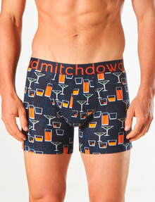 Mitch Dowd Martini Printed Fitted Trunk, Navy product photo