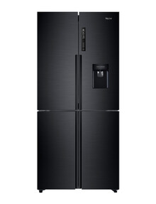 Haier 565L Quad-Door Fridge Freezer, Black, HRF565YHC product photo